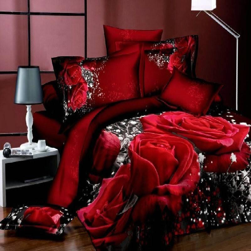 Large Rose Bedding Cover Set
