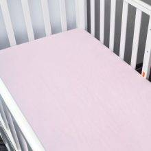 pink baby bed sheet