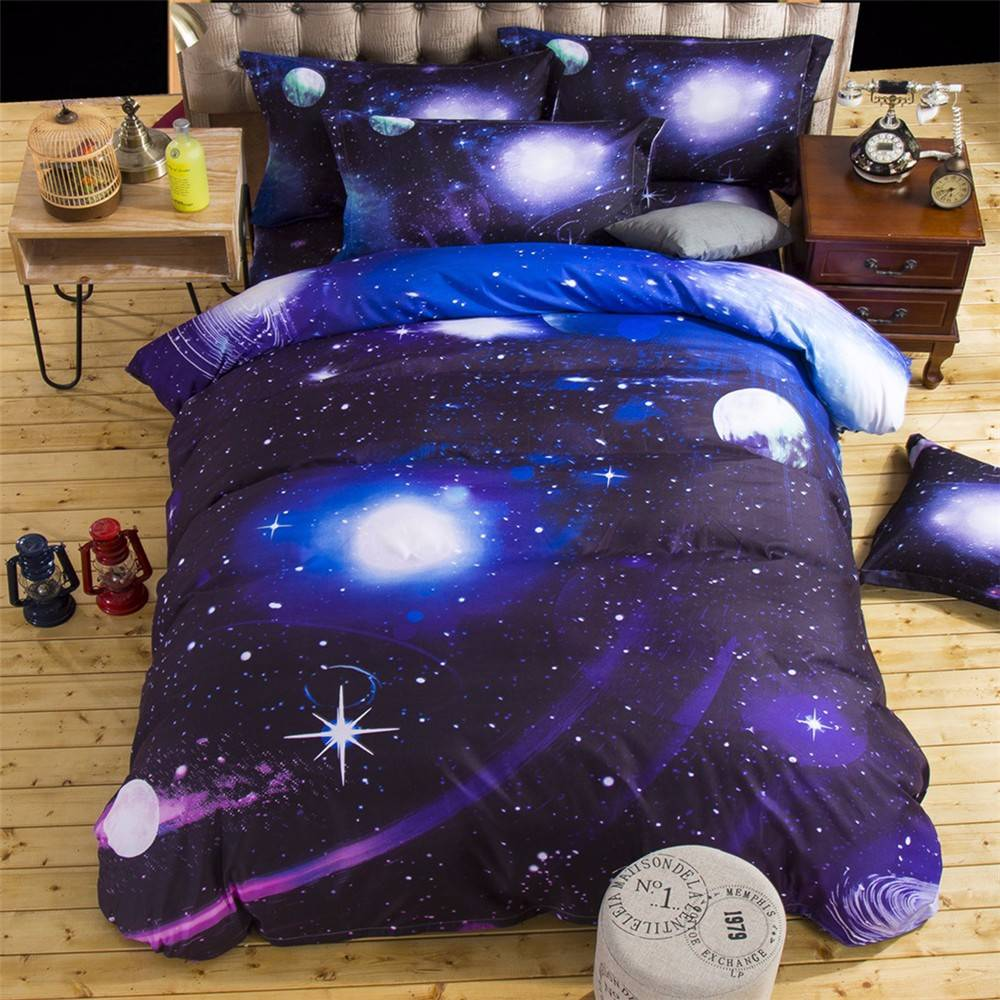 dark matter space galaxy bedding set