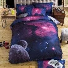 deep nebula space galaxy bedding set
