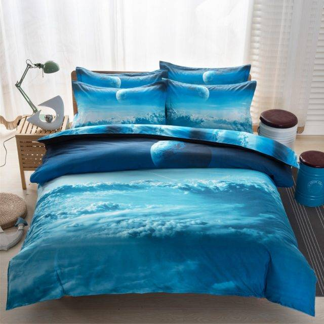 moon space duvet cover set including pillowcases