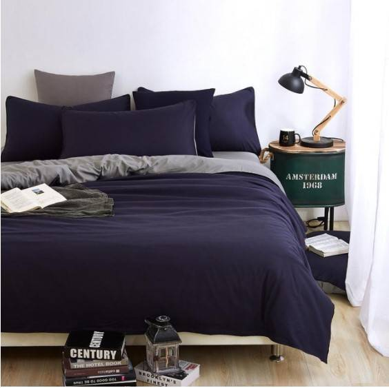 Laconic Style Two Tone Bedding Set (28 Colors)