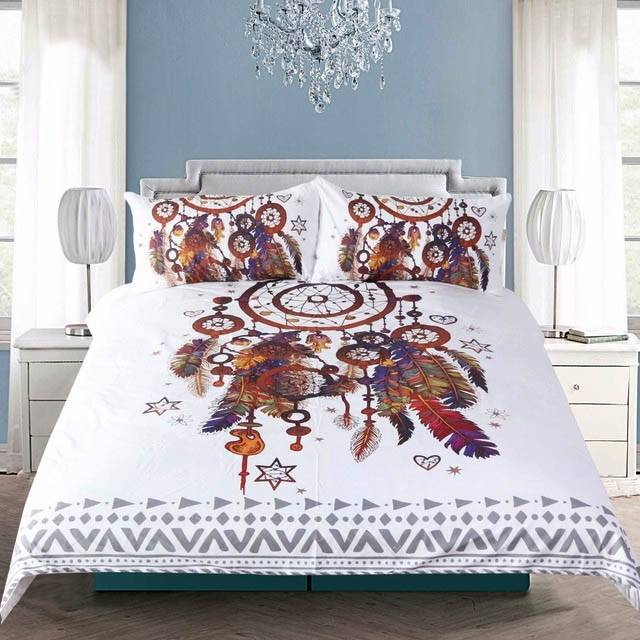 Make your bed with a bohemian duvet cover