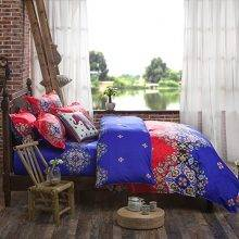 bohemian duvet cover and bed set - side view