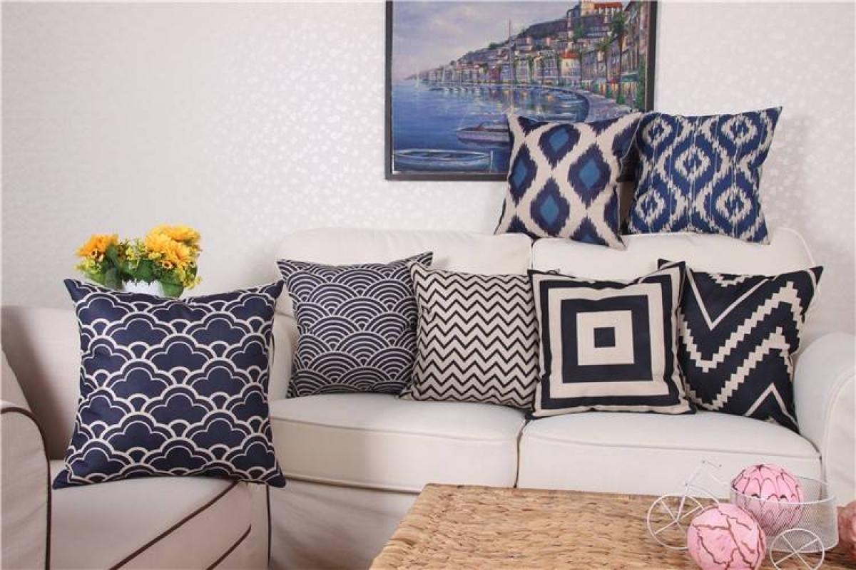 Modern Cushions on Sofa
