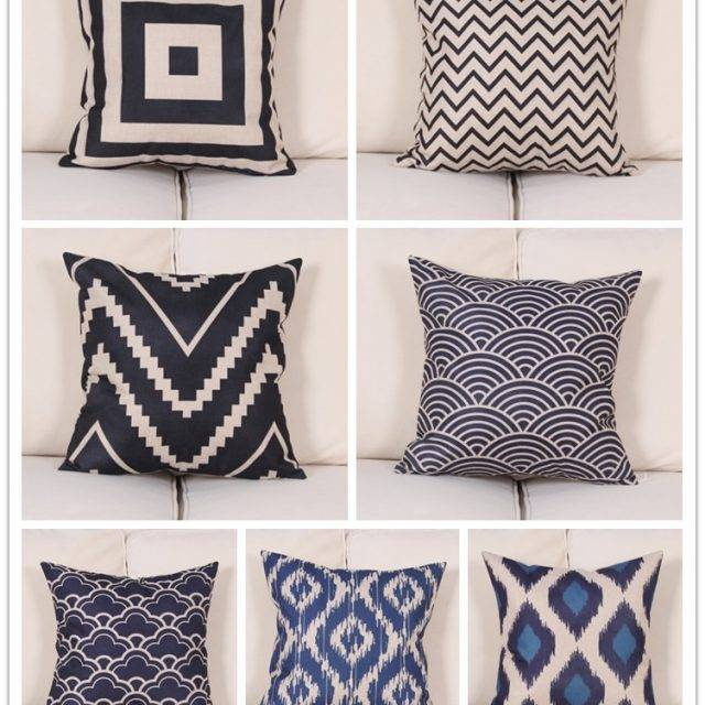Modern Blue and White Pillowcases