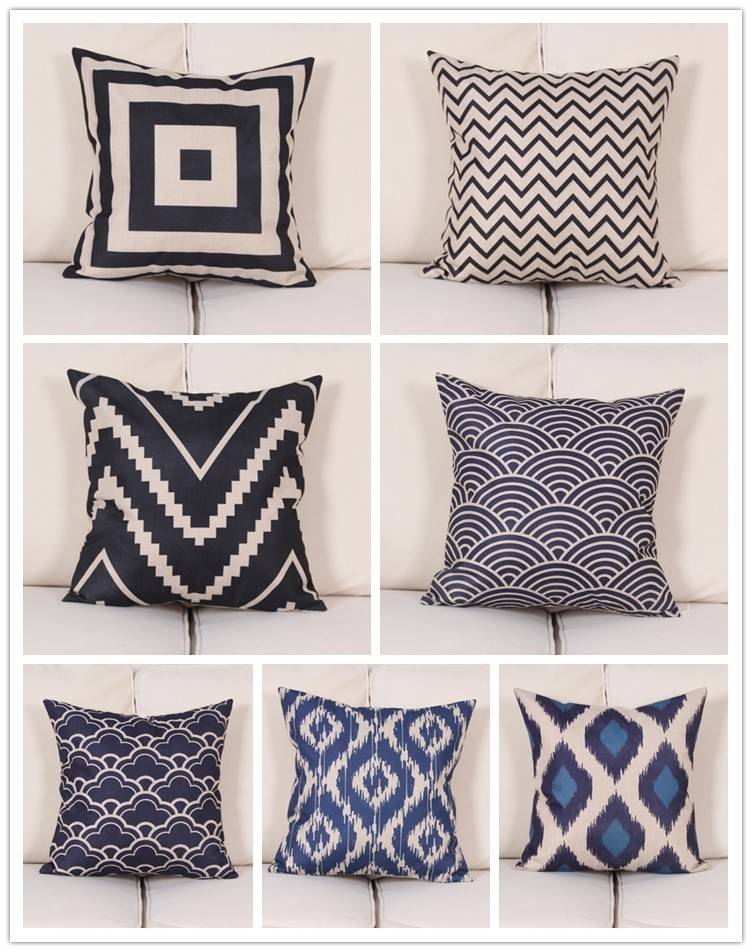 Modern Blue and White Pillowcases