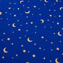 stars at night time bed sheet front detail