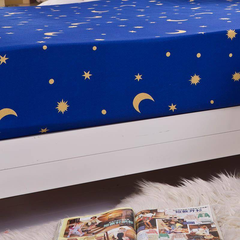 stars at night time fitted bed sheet