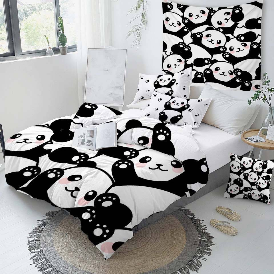 panda bedding duvet cover