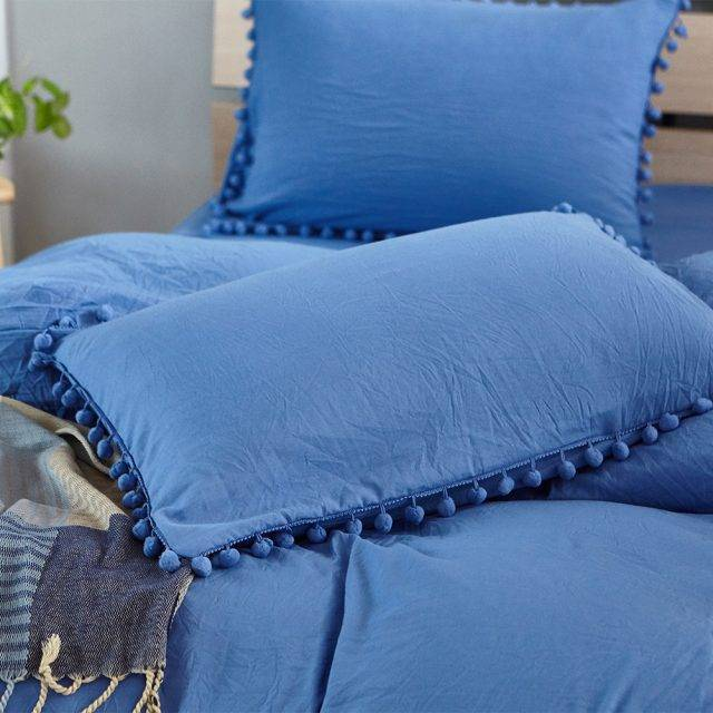 solid pastel sea blue pillow