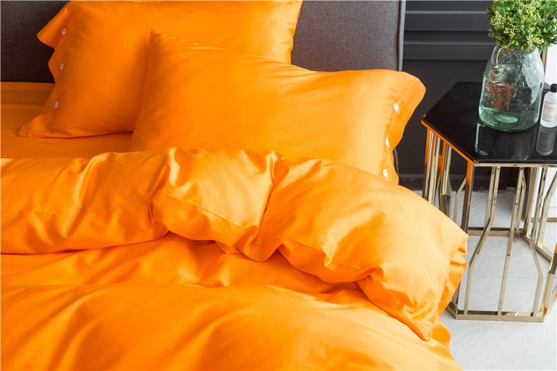 Yellow Egyptian Cotton Soft Bedsheet Pillows