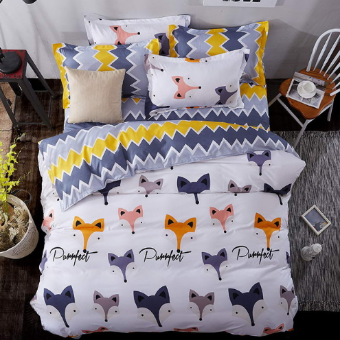 fox cartoon bedding set
