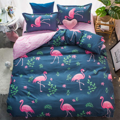 Flamingo Blue Duvet Cover