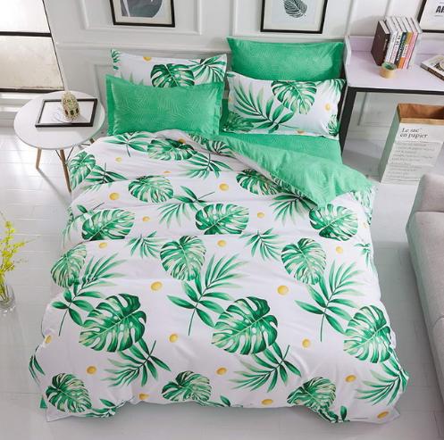Tropical Plants Duvet Cover