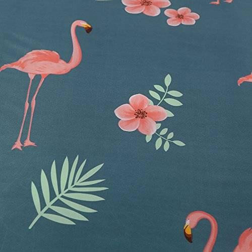 Flamingo Floral Duvet Oxford Blue