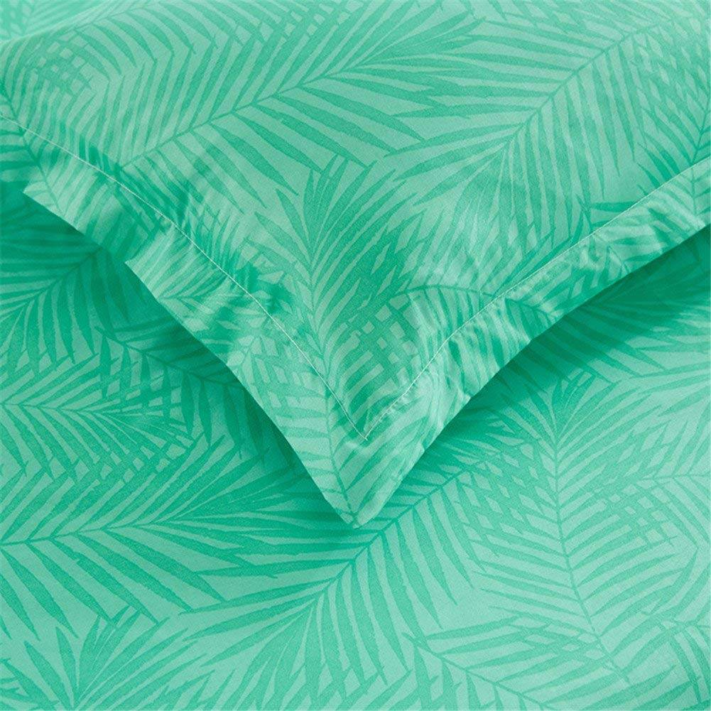 tropical plant Duvet Cover Bedding Set White and Green