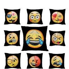 Emoji Cushion Cover Changing Smiley Pillow Case