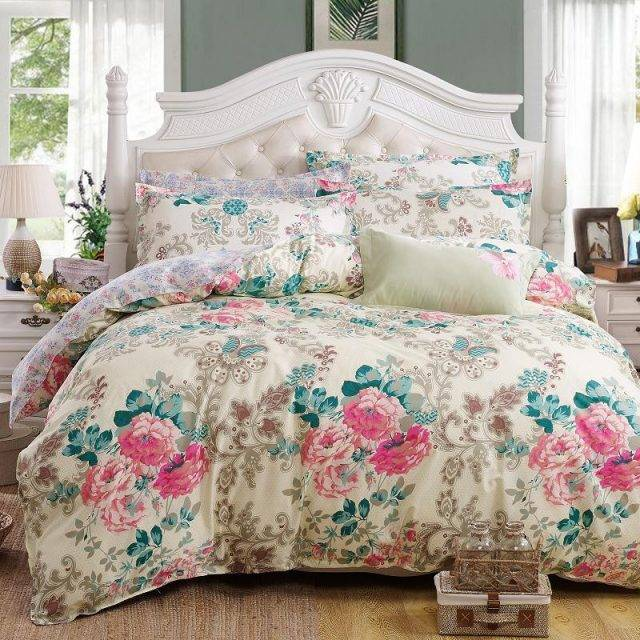 Floral Rose Duvet Cover and Bed Sheet