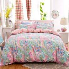 Pink Paisley Duvet Cover Bed Sheet
