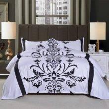 Black and White Jacquard Luxury Duvet Cover Floral Duvet Covers Grey and Anthracite Duvet Covers