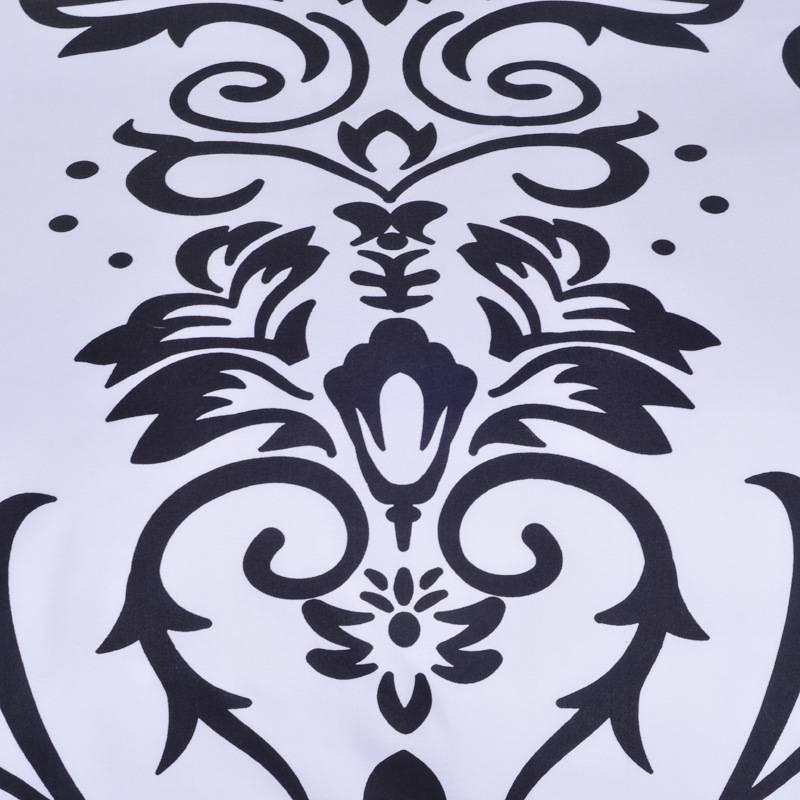 Black and White Jacquard Close-Up