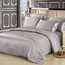satin bedding grey