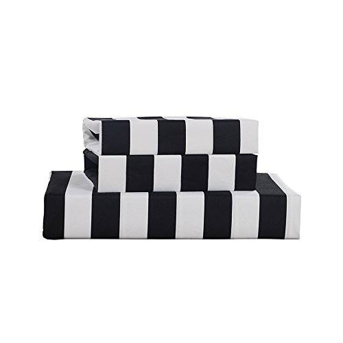 black and white striped bedding 2
