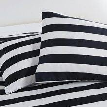 black and white striped bed pillows