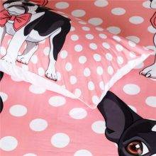 boston terrier bed sheet pillow