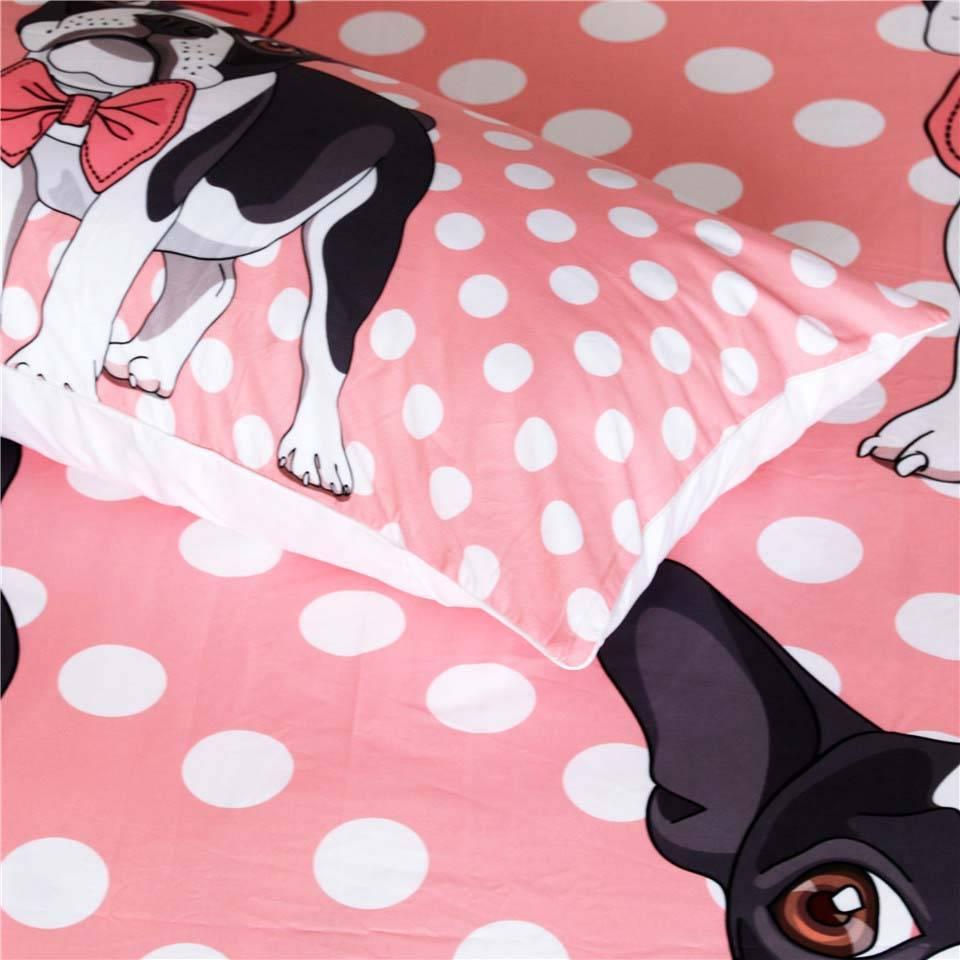boston terrier bed sheet pillow
