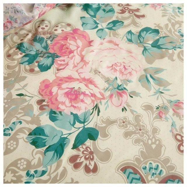 rose flower bed duvet cover