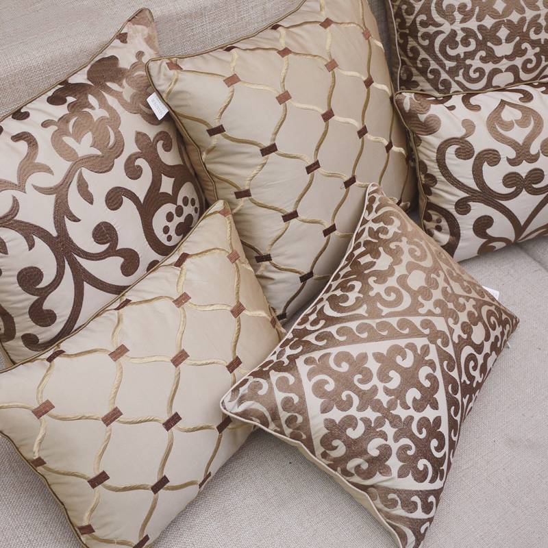 embellished embroidered luxury throw pillows