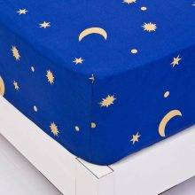 moon and stars micropolyester fitted sheet corner