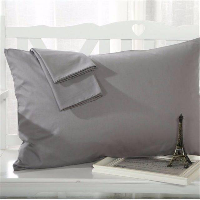 100% egyptian cotton pillowcases in dark grey