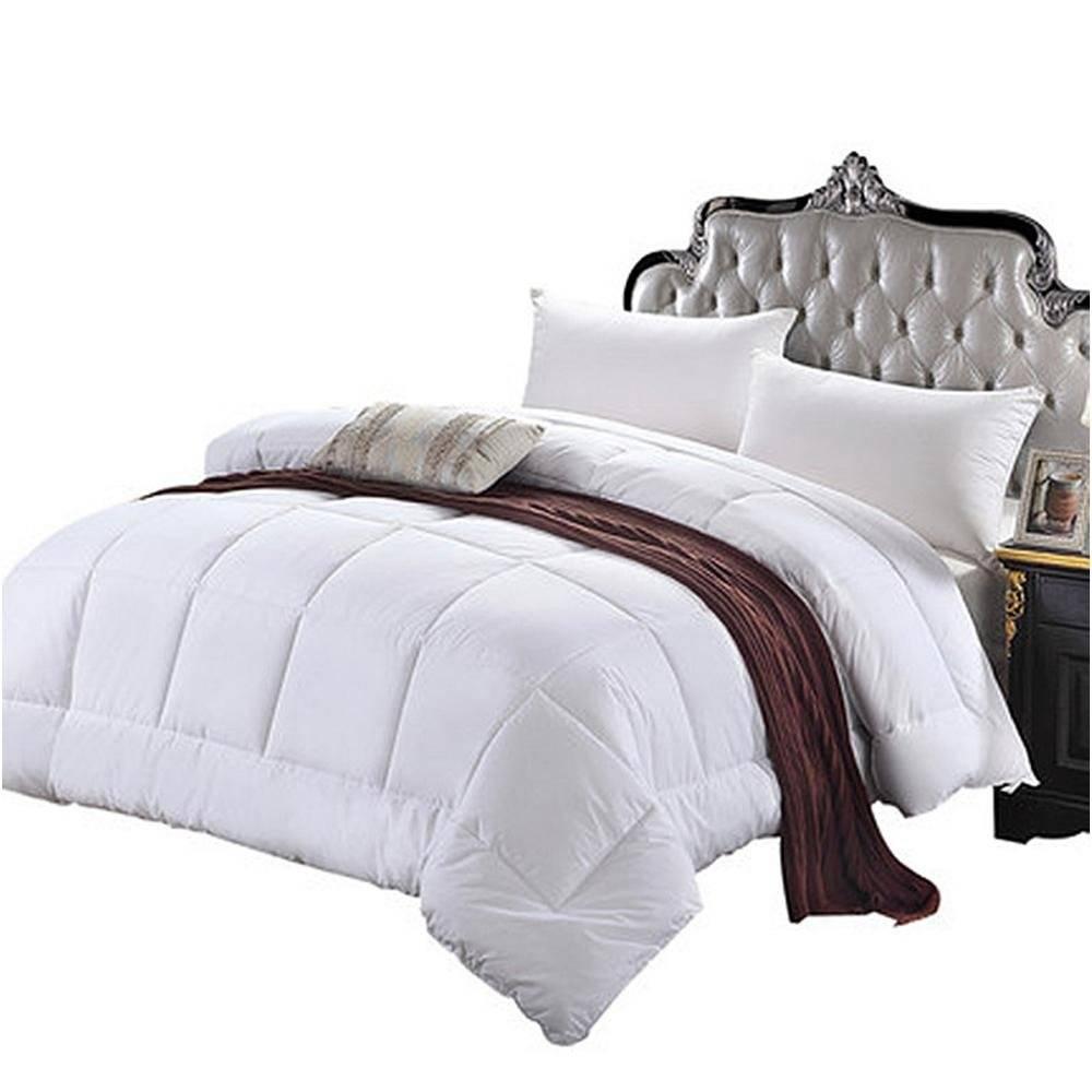panda comforter white