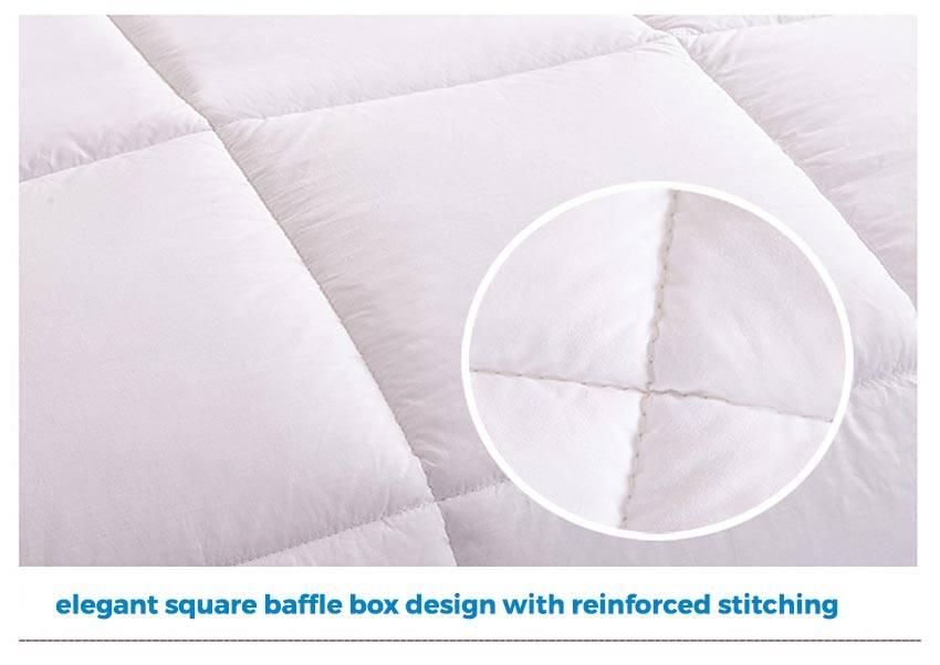 panda eco duvet square baffle stitch