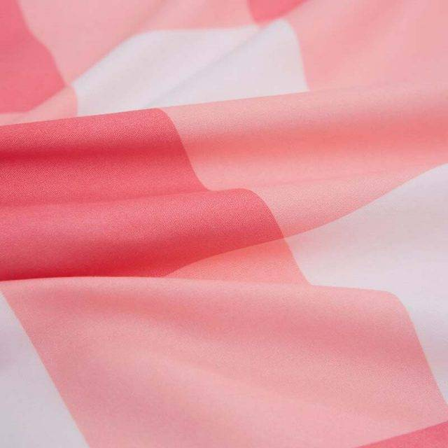 soft pink plaid duvet cover