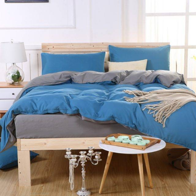 Solid Color Soft Cotton Duvet Cover Bedding Set (28 colors )