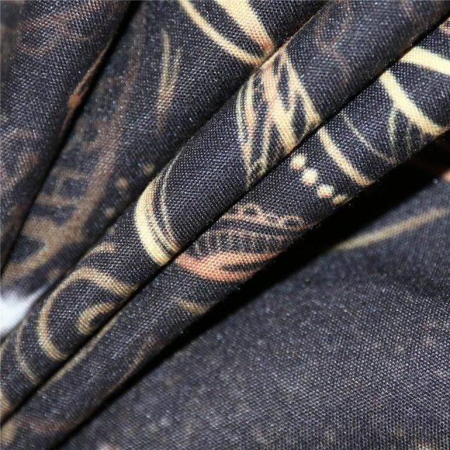 Gold Scorpion Black Boho Duvet Cover 3pcs Bedding Set