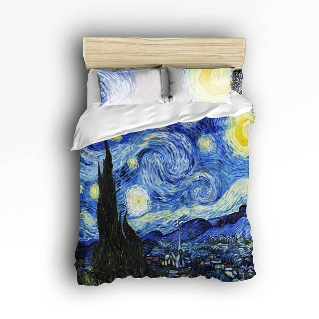 van gogh starry night bedding set