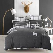Laconic Animal Pattern Cotton Bedding Set (3 Colors)