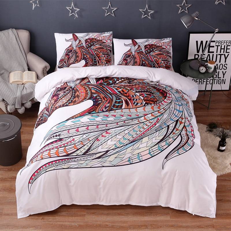 Bohemian Horse Design Bedding Set (4 Sizes)