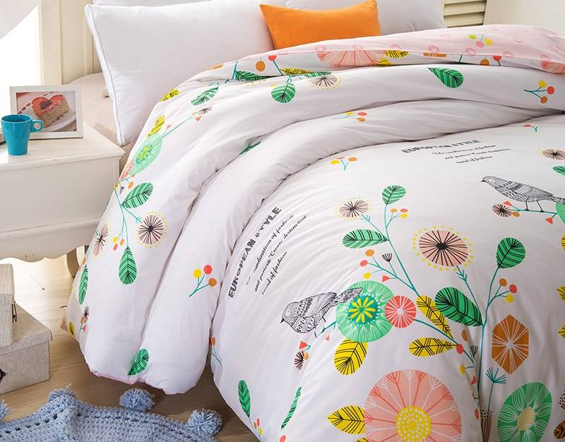 Colorful Cartoon Pattern Cotton Duvet Cover