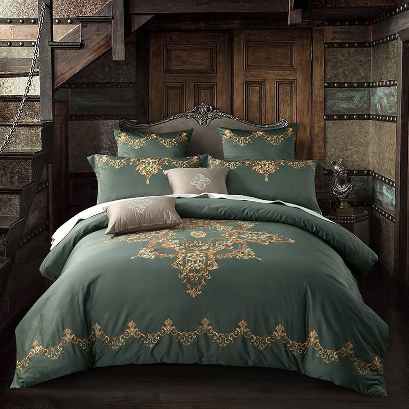 Ornament Pattern Egyptian Cotton Bedding Set