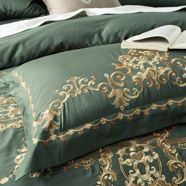 Ornament Pattern Egyptian Cotton Bedding Set