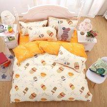 Funny Cartoon Style Cotton Bedding Set