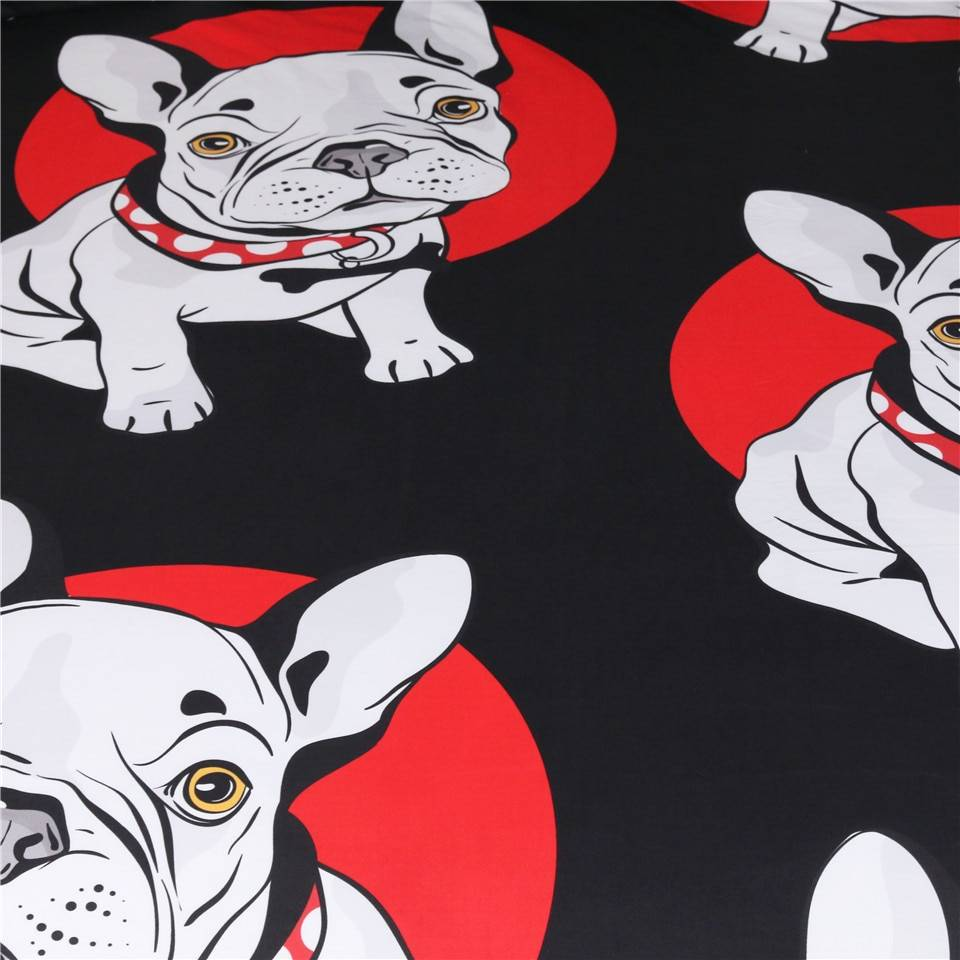 French Bulldog Duvet Cover Pattern Bedding Set