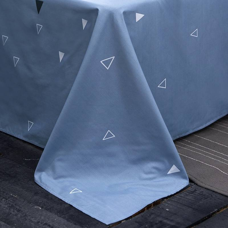 Blue & Black Stripe Duvet Cover Pattern Bedding Set (2 Styles)