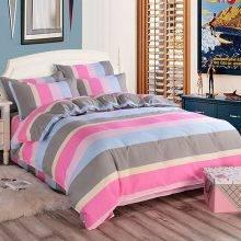 Colorful Striped Pattern Bamboo Fiber Bedding Set